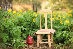 Cyfrowej fotografii tło Plenerowa wiosna ogródu scena Obraz Stock