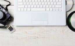 Cyfrowej fotografii Workspace Zdjęcia Stock