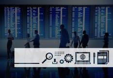 Cyfrowej ikony symbolu Globalnej sieci technologii pojęcie Obrazy Royalty Free