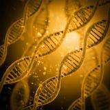 Cyfrowej ilustraci DNA struktura Zdjęcia Stock