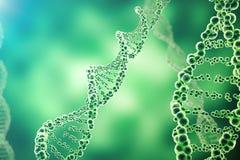 Cyfrowej ilustraci DNA struktura w colourful tle Medycyny pojęcia 3d rendering Obrazy Stock
