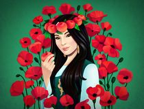 Cyfrowej ilustracja azjatykcia dziewczyna ilustracji