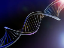 Cyfrowej ilustracja DNA model Obrazy Stock