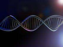 Cyfrowej ilustracja DNA model Zdjęcia Stock