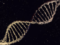 Cyfrowej ilustracja DNA model 3d Zdjęcia Royalty Free