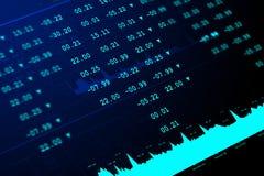 Cyfrowej ilustracja rynku papierów wartościowych wykresu analiza zdjęcia stock