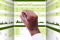 Cyfrowej ilustracja rynku papierów wartościowych wykresu analiza zdjęcie stock