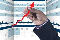 Cyfrowej ilustracja rynku papierów wartościowych wykresu analiza zdjęcia royalty free