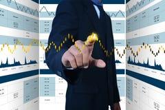 Cyfrowej ilustracja rynku papierów wartościowych wykresu analiza obraz royalty free