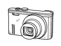 Cyfrowej kamery Doodle Zdjęcia Royalty Free