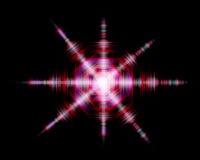 Cyfrowej kolorowa gwiazdowa rozsądna fala na czarnym tle Fotografia Stock