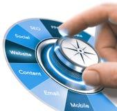 Cyfrowej komunikaci strategie Trenuje, Wprowadzać na rynek 360 stopni Obraz Royalty Free