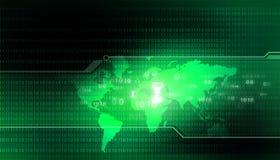 Cyfrowej kula ziemska świat binarny Obrazy Stock