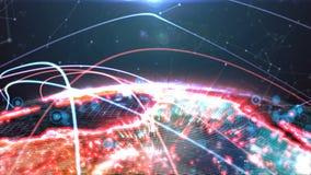 Cyfrowej kuli ziemskiej hologram royalty ilustracja