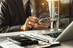 Cyfrowej kuli ziemskiej kształta marketingowy medialny biznes royalty ilustracja