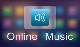 Cyfrowej Multimedialnej rozrywki Muzyczny Leje się Online pojęcie obrazy stock