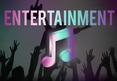 Cyfrowej muzyka Leje się Online rozrywka środków pojęcie ilustracja wektor