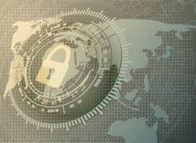 Cyfrowej ochrony pojęcie z kłódką royalty ilustracja