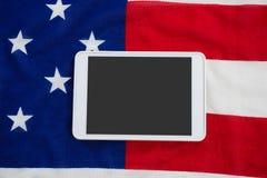 Cyfrowej pastylka na flaga amerykańskiej obrazy royalty free
