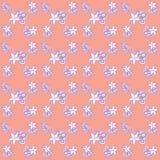 Cyfrowej pomarańcze i purpurowy roślina papier Obraz Stock