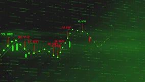 Cyfrowej pozytywna pieni??na akcyjna mapa r w g?r? abstrakcjonistyczna globalnego rynku mapy warto?ci animacja 3840 2160 UHD zbiory wideo