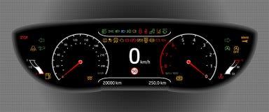 Cyfrowej Samochodowa deska rozdzielcza Zdjęcie Stock