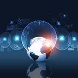 Cyfrowej sieci interfejs Zdjęcia Stock
