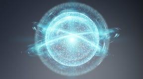 Cyfrowej sieci związku sfery interfejsu 3D rendering Zdjęcie Stock