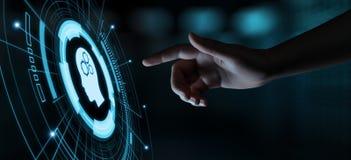 Cyfrowej Sztucznej inteligenci AI maszynowego uczenie technologii Internetowej sieci Móżdżkowy Biznesowy pojęcie ilustracja wektor