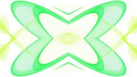 Cyfrowej sztuki abstrakta zieleni projekt na białym tle ilustracja wektor