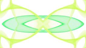 Cyfrowej sztuki abstrakta zieleni projekt na białym tle ilustracji