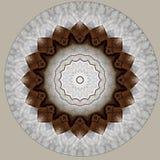 Cyfrowej sztuki projekt robić papier i sznur widzieć przez kalejdoskopu ilustracji