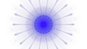 Cyfrowej sztuki projekta błękitny wibrujący na białym tle ilustracja wektor