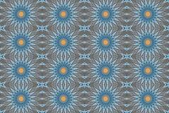 Cyfrowej sztuki projekta bezszwowy wzór z błękitnymi gwiazdami Zdjęcie Royalty Free