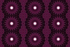 Cyfrowej sztuki projekta bezszwowy wzór z purpurowymi gwiazdami Obraz Royalty Free