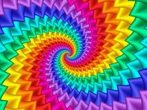 Cyfrowej sztuki tęczy spirali Abstrakcjonistyczny tło Fotografia Royalty Free