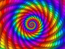 Cyfrowej sztuki tęczy spirali Abstrakcjonistyczny tło Zdjęcia Stock
