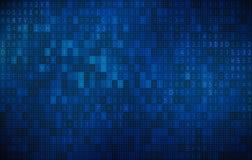 Cyfrowej technologii Abstrakcjonistyczny tło, Angielscy abecadła ilustracja wektor