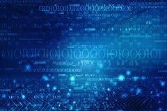 Cyfrowej technologii abstrakcjonistyczny tło, Binarnego kodu cyfrowa ilustracja obraz royalty free