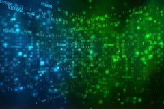 Cyfrowej technologii Abstrakcjonistyczny tło, Binarny tło Zdjęcie Stock