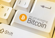 Cyfrowej waluta Bitcoin Obrazy Royalty Free