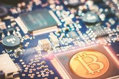 Cyfrowej waluta w sieciach komputerowych Zdjęcia Stock