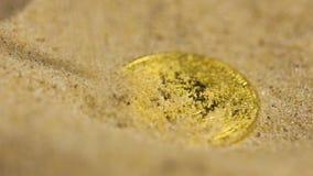 Cyfrowej waluty Bitcoin model Nalewający z piaskiem zbiory