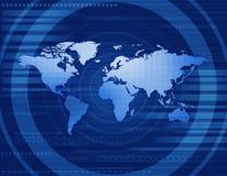 Cyfrowej światowa mapa Fotografia Royalty Free