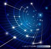 Cyfrowej wysokość tło Cyber ochrona i informacji tło ilustracja wektor