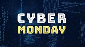 Cyfrowo wytwarzający cyber Poniedziałek ilustracja wektor