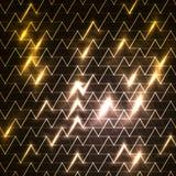 Cyfrowo wytwarzający wizerunek błękita światło rusza się szybko nad czarnym tłem lampasy i Zdjęcia Stock