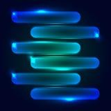 Cyfrowo wytwarzający wizerunek błękita światło rusza się szybko nad czarnym tłem lampasy i Zdjęcia Royalty Free