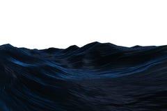 Cyfrowo wytwarzający zmrok - błękitny szorstki ocean Obrazy Royalty Free