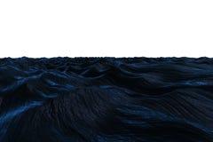 Cyfrowo wytwarzający zmrok - błękitny szorstki ocean Zdjęcie Stock